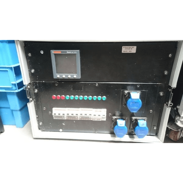 63a distro with meter and mcb breakers on show