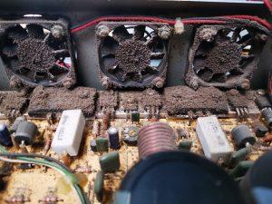 Removing dust from installed av system