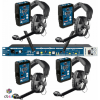 Altair wireless hd communication belt pack and rack system can interface with standard cans, techpro, asl, stonewood 3 or 6 wire systems wbs-202hd wbs-210hd package
