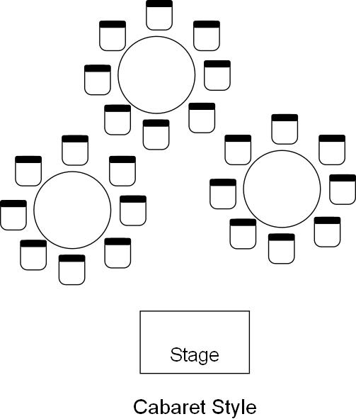 Cabaret venue table layout