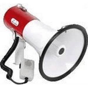 30W red and white megaphone