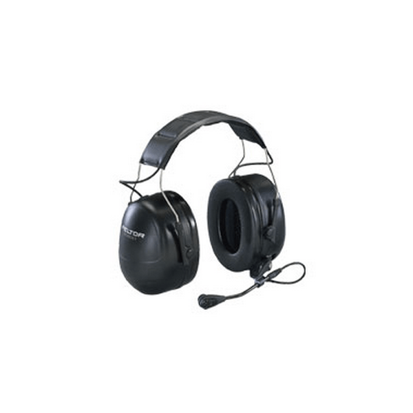Peltor hearing defender headphones with noise cancelling microphone also know as cans