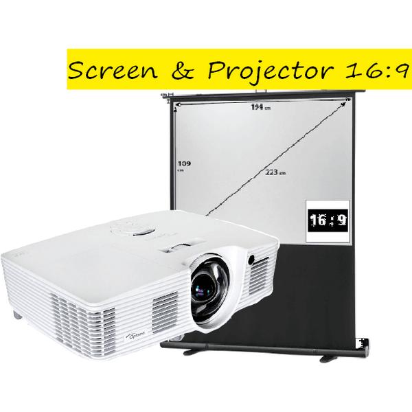 Desktop and projector screen package rental