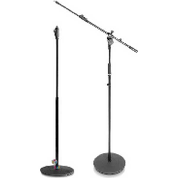 Round heavy base microphone stand with or without boom attachment