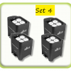 Package of 4 battery uplights to rent