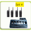 Package of 4 event radios with base charger station rental