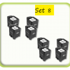 Package 8 battery uplighters hire