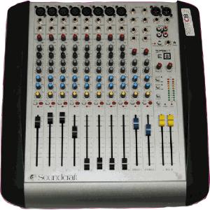 Soundcraft analogue mixing desk