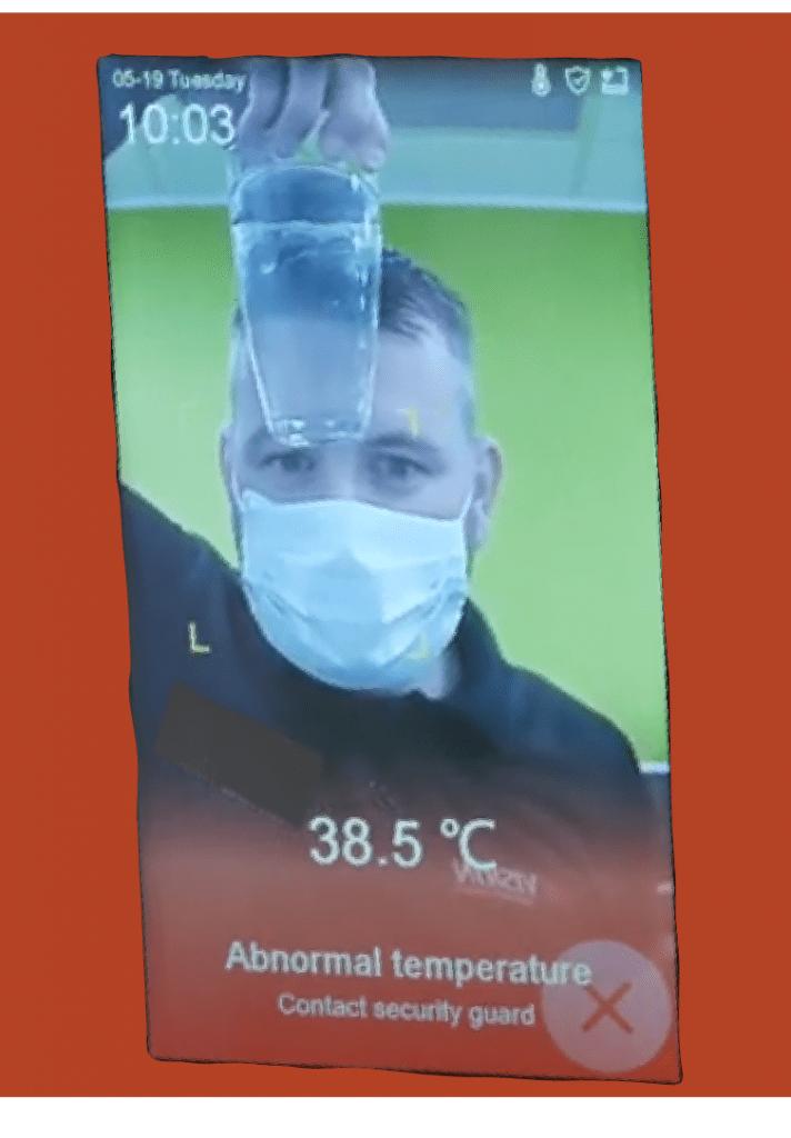 Hik vision face temperature too high warning