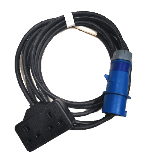 Double 13a mains cable adaptor