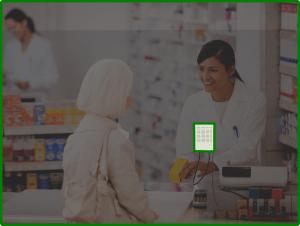 Customer side of intercom through perspex screen, provides clear speech through screen.
