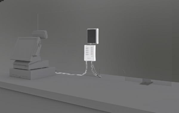 Monacor voicebridge talk through glass intercom voicebridge