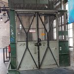 German old warehouse lift