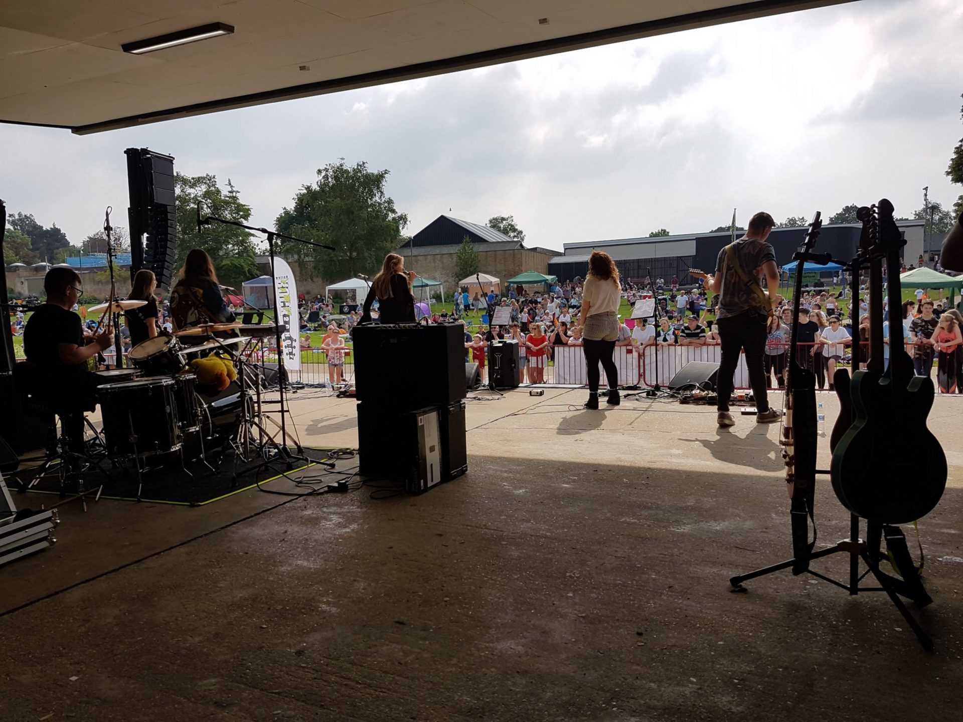 Band and pa system on harlow bandstand