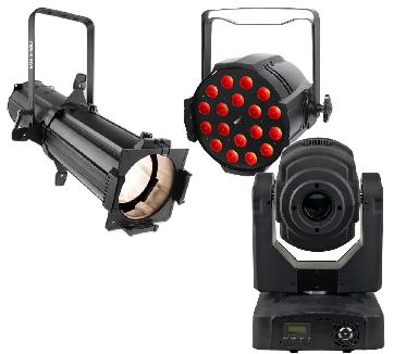Lighting equipment rental in Essex, spotlight, theatre lighting moving light and LED